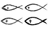 christian-fish-crosses